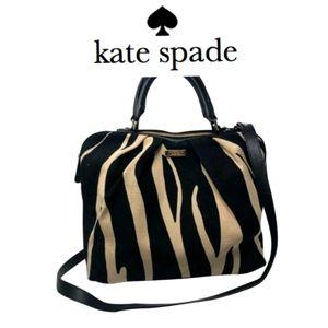 🦓 Authentic Kate Spade ♠️ Canvas Zebra Purse 🦓